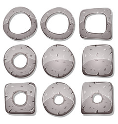Stone rings circles and shapes for ui game vector