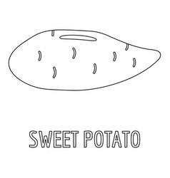 Sweet potato icon outline style vector