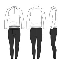 templates of blank shirt and jogging pants vector image vector image