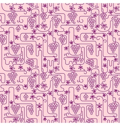 vinegrape seamless vector image vector image