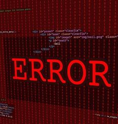 Web error screen vector
