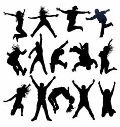 Celebration silhouettes vector