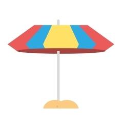 umbrella parasol sand beach vector image