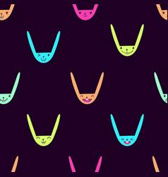 Rabbit emoticons pattern-13 vector