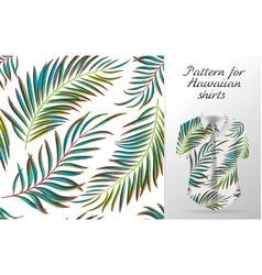 tropical aloha pattern vector image