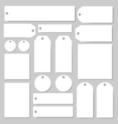 Tags and labels with empty copy space set vector
