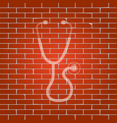 Stethoscope sign   whitish vector