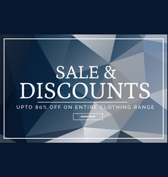 Abstract geometric sale banner design template vector