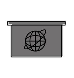 breaking news desk icon vector image