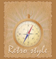 Retro style poster old compass vector