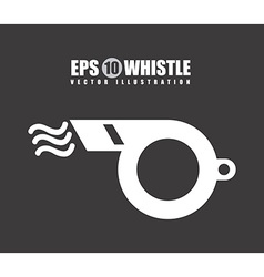 Whistle design vector