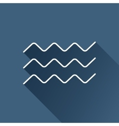 Waves icon eps10 vector