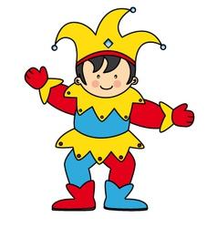 jester dressed child vector image