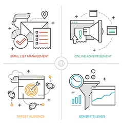 Online marketing technologies vector