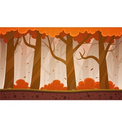 Autumn forest cartoon background vector