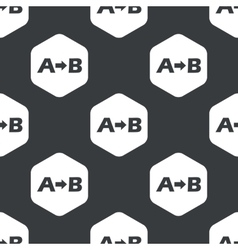 Black hexagon a b pattern vector