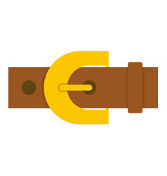 Brown elegant leather trousers belt icon isolated vector