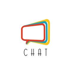 Chat logo talking concept idea communication vector
