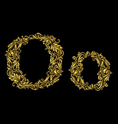 Decorated letter o vector image