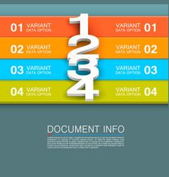 Document info banner vector