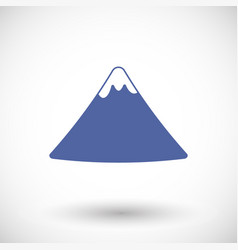 Fuji mountain flat icon vector