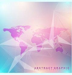geometric graphic background communication big vector image vector image