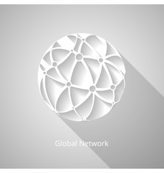 Global network icon vector image vector image