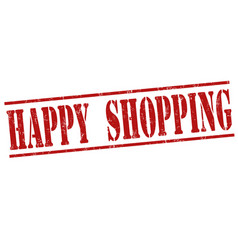 Happy shopping stamp vector