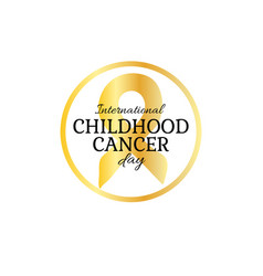 International childhood cancer day vector