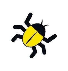 Isolated bug symbol vector
