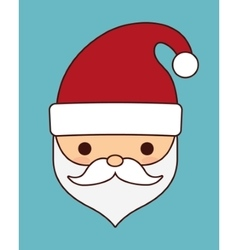 Kawaii santa of christmas season design vector