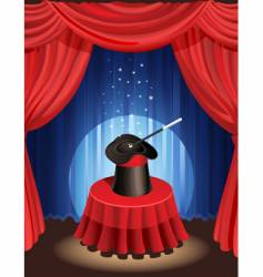 magic show vector image vector image