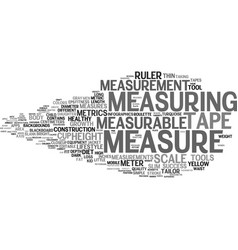 Measurable word cloud concept vector