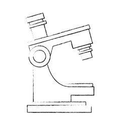 microscope science tool vector image