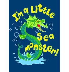 Sea monster splashing in some water vector image vector image