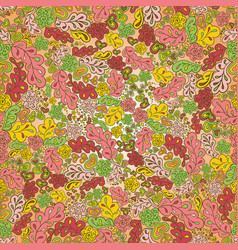 Seamless pattern sun flower green pink yellow vector