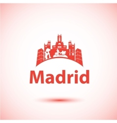 Silhouette of madrid city skyline vector