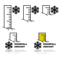 Snowfall amount vector
