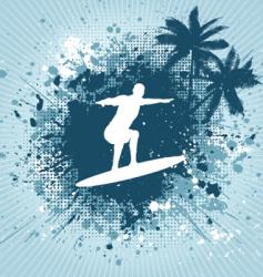 surfing grunge vector image vector image