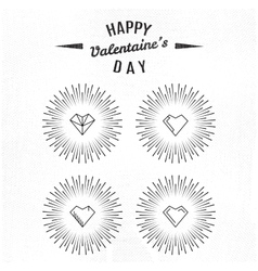 Valentines day and typography vector image vector image