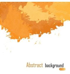 Orange abstract paint splashes  background w vector image