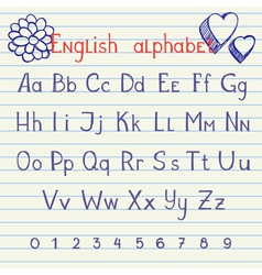 Drawing english alphabet vector