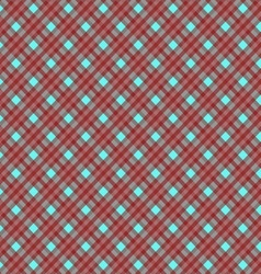Seamless cross dark red blue diagonal pattern vector image