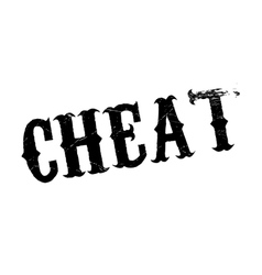 Cheat rubber stamp vector image
