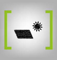 solar energy panel eco trend concept sign vector image