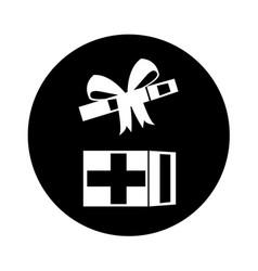 Open giftbox present isolated icon vector