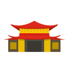 Chinese temple icon isolated vector