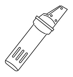 glass cutter icon outline style vector image