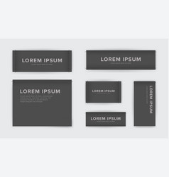 Set of different textile tags collection of vector