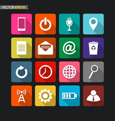 Website icons collection 1 vector image